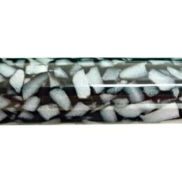 Metre Long Acrylic - Black - White Crush