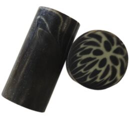 Bottle Stopper Blank - 058 - Grey Burst