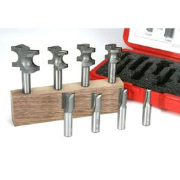 "INCRA M-610 WHITESIDE 8-Piece Hingecrafter Router Bit Set (1/2"" Shank)"