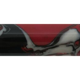 Red, Black and White - Poly Resin Pen Blank
