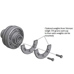 Vicmarc V01230 Additional Weights for Eccentric Chuck - 2 Pieces