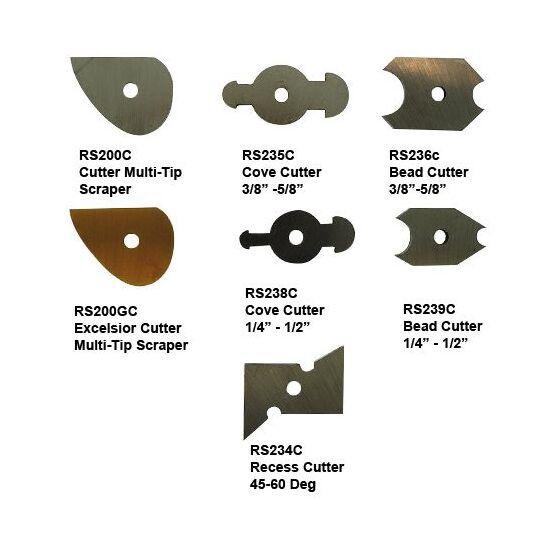 Woodturning Robert Sorby HSS Recess Cutter 45-60 Degree RS234C