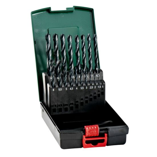 Metabo 627164000 HSS-R Metal Drill Bit Set (19 Piece)
