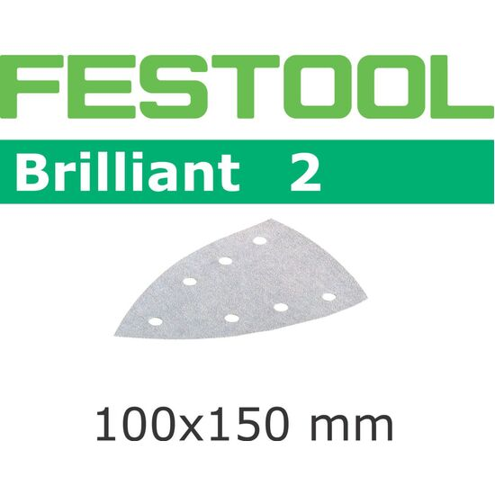Festool Brilliant Abrasive Sheet 100mm DELTA P40 (10 pack) (492804)