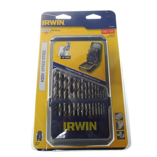 "Irwin TBRT29IM3 Drill Set HSS Imperial 1/16"" to 1/2"" - 29 pieces"