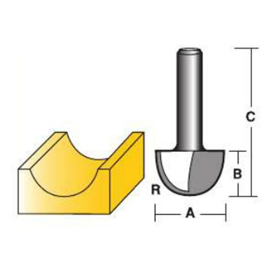 "Carbitool Core Box Bit [Option: T416 1/4""]"