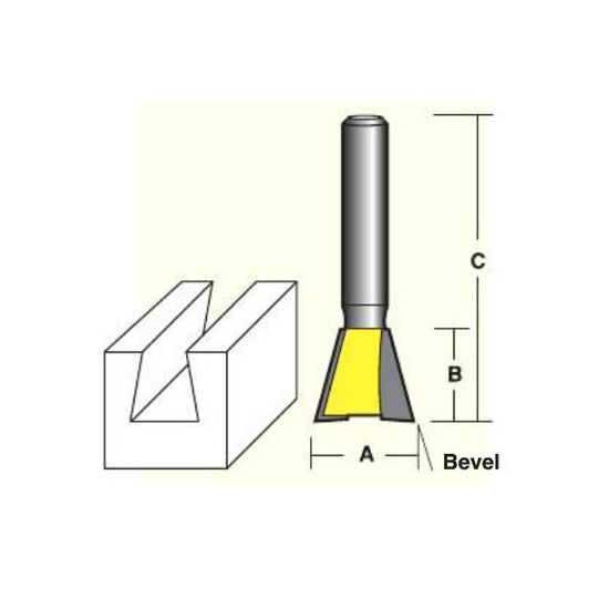 dovetail router bits. econocut ey1018_1/2 dovetail router bits