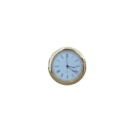Mustair 45mm Clock Fit Ups (White Face - Roman Numerals)