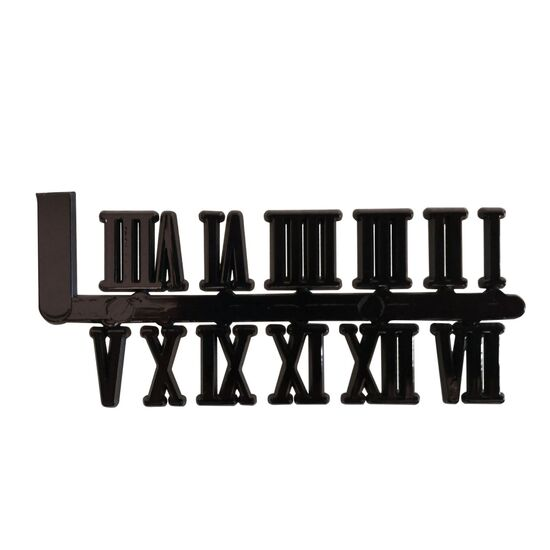 Mustair Set of 12 Roman Numeral - 15mm (Black)