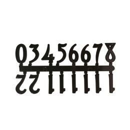 Mustair Set of 12 Arabic Numbers (Black)
